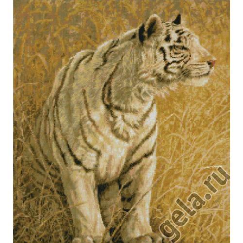 "Набор для вышивания крестом Kustom Krafts Inc. ""Охота белого тигра"" (фото, вид 1)"