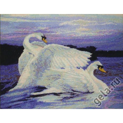 """Набор для вышивания крестом Kustom Krafts Inc. """"Лебеди"""" (фото, вид 1)"""