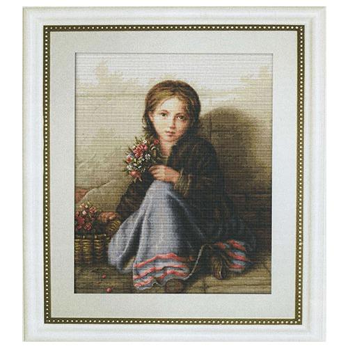 """Набор для вышивания крестом Luca-S """"Портрет девочки"""" (фото, вид 1)"""