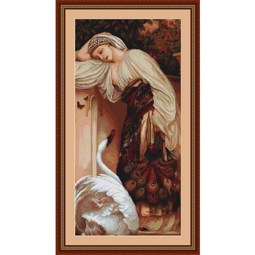 """Набор для вышивания крестом Luca-S """"Одалиска"""" (фото, вид 1)"""