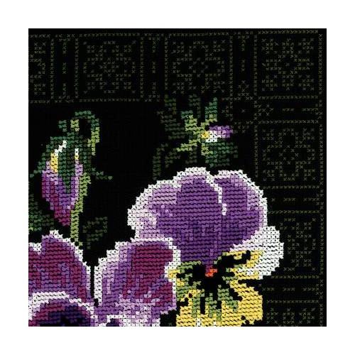 """Набор для вышивания крестом Риолис """"Анютины глазки"""" (фото, вид 1)"""