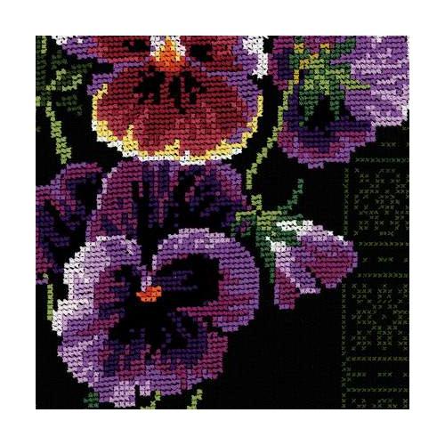 """Набор для вышивания крестом Риолис """"Анютины глазки"""" (фото, вид 3)"""