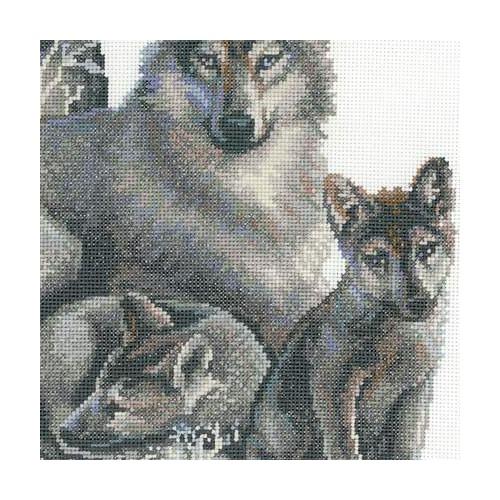 """Набор для вышивания крестом Риолис """"Волки"""" (фото, вид 2)"""