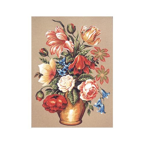 """Канва/ткань с нанесенным рисунком Diamant """"Букет в вазе с колокольчиками"""" (фото, вид 1)"""