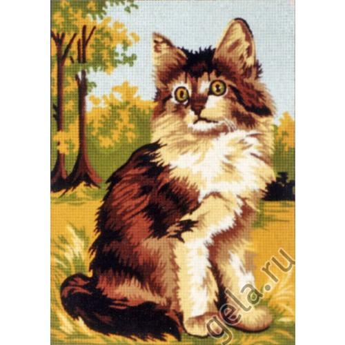 """Канва/ткань с нанесенным рисунком Diamant """"Кот"""" (фото, вид 1)"""