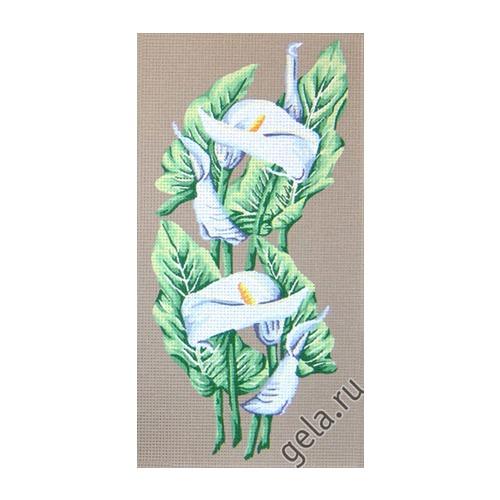 """Канва/ткань с нанесенным рисунком Gobelin-L """"Каллы"""" (фото, вид 1)"""