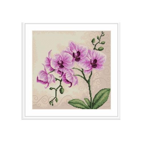 """Набор для вышивания крестом Luca-S """"Орхидеи"""" (фото, вид 1)"""