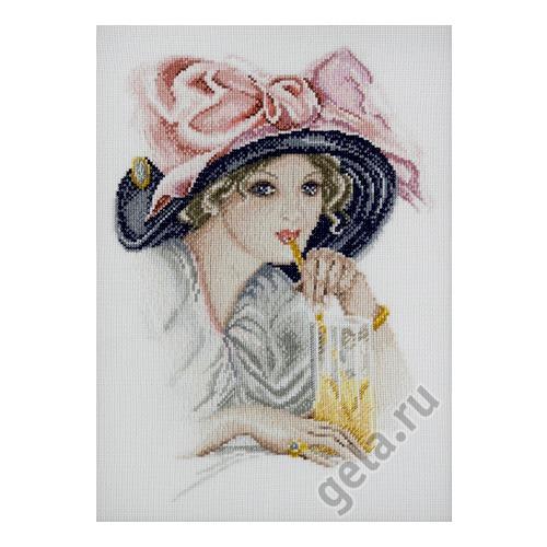"""Набор для вышивания крестом Марья искусница """"Девушка с розовым бантом"""" (фото, вид 1)"""