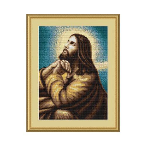 """Набор для вышивания крестом Luca-S """"Молитва Иисуса"""" (фото, вид 1)"""