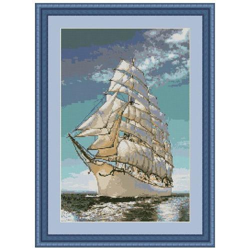 """Набор для вышивания крестом Luca-S """"Корабль"""" (фото, вид 1)"""