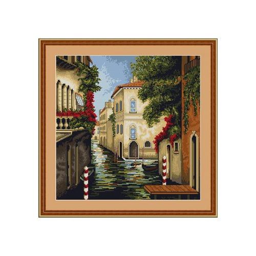 """Набор для вышивания крестом Luca-S """"Венеция в цветах"""" (фото, вид 1)"""