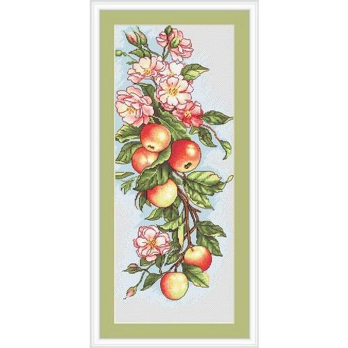 """Набор для вышивания крестом Luca-S """"Композиция с яблоками"""" (фото, вид 1)"""