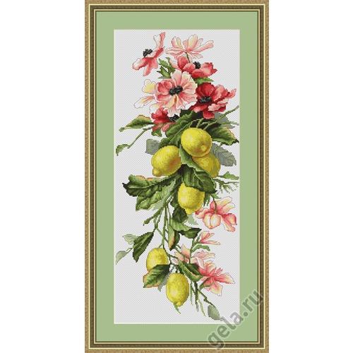 """Набор для вышивания крестом Luca-S """"Композиция с лимонами"""" (фото, вид 1)"""