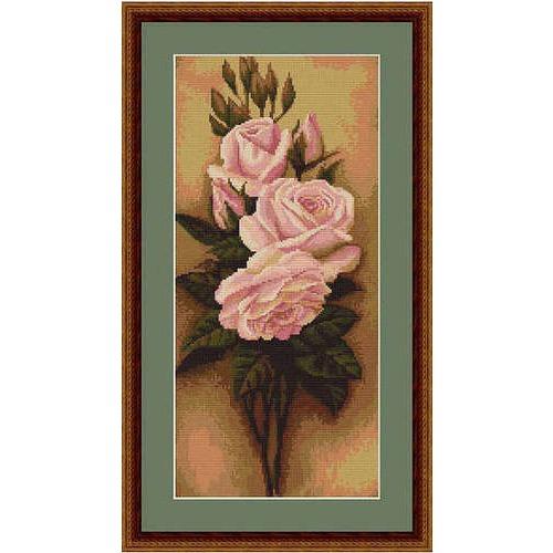 """Набор для вышивания крестом Luca-S """"Розы"""" (фото, вид 1)"""
