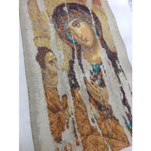"""Набор для вышивания крестом Thea Gouverneur """"Икона Божия Матерь (Богородица Одигитрия)"""" (фото, вид 2)"""