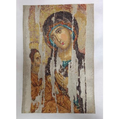 """Набор для вышивания крестом Thea Gouverneur """"Икона Божия Матерь (Богородица Одигитрия)"""" (фото, вид 3)"""
