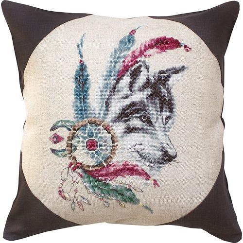 """Набор для вышивания крестом Luca-S """"Волк"""" (фото, вид 1)"""