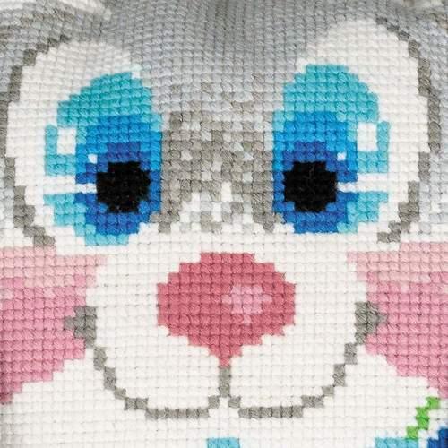 """Набор для вышивания крестом Риолис """"Подушка. Зайчик"""" (фото, вид 1)"""