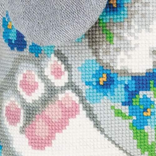 """Набор для вышивания крестом Риолис """"Подушка. Зайчик"""" (фото, вид 2)"""