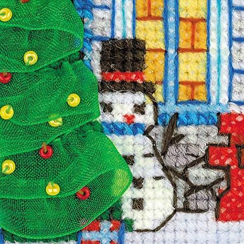 """Набор для вышивания крестом Риолис """"Ледяной домик"""" (фото, вид 3)"""