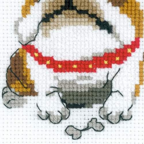 """Набор для вышивания крестом Риолис """"Английский бульдог"""" (фото, вид 2)"""
