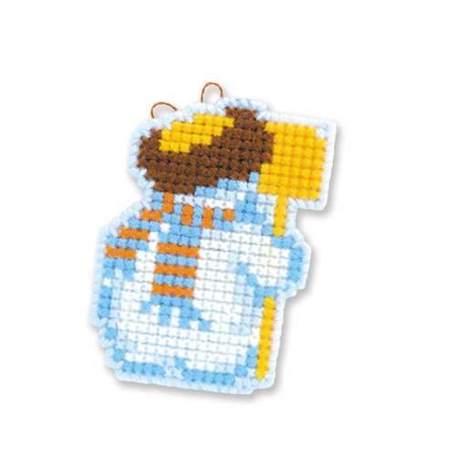 """Набор для вышивания крестом Риолис Новогодние игрушки """"Снеговички"""" (фото, вид 2)"""