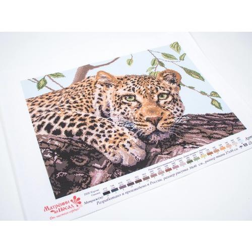 "Канва с нанесенным рисунком Матрёнин посад ""Леопард"" (фото, вид 1)"
