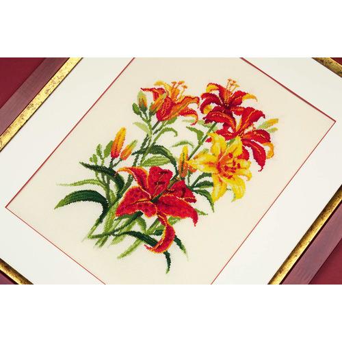 """Набор для вышивания крестом Риолис """"Солнечные лилии"""" (фото, вид 2)"""