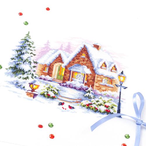 """Набор для вышивания крестом Чудесная игла """"Зимний домик"""" (фото, вид 1)"""
