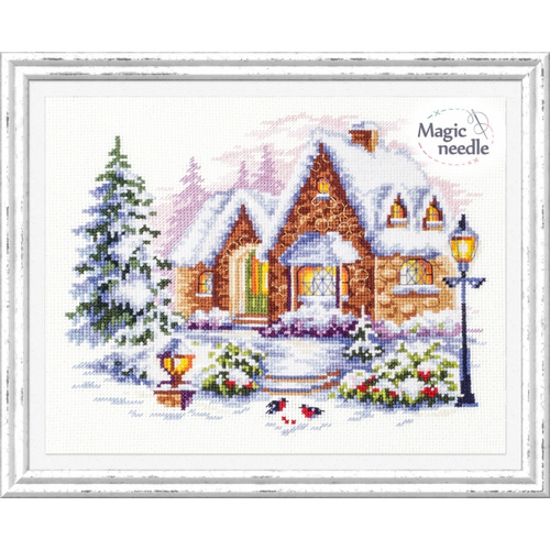 """Набор для вышивания крестом Чудесная игла """"Зимний домик"""" (фото, вид 3)"""