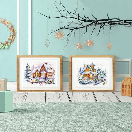 """Набор для вышивания крестом Чудесная игла """"Зимний домик"""" (фото, вид 5)"""