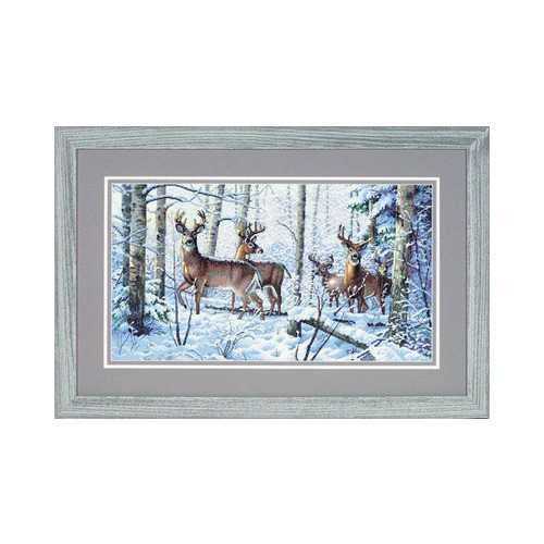 """Набор для вышивания крестом Dimensions """"Зима в лесу"""" (фото, вид 1)"""