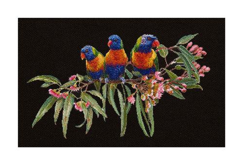 """Набор для вышивания крестом Thea Gouverneur """"Стайка попугаев"""" (фото, вид 1)"""