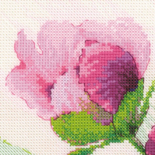 """Набор для вышивания крестом Риолис """"Розовые пионы"""" (фото, вид 1)"""