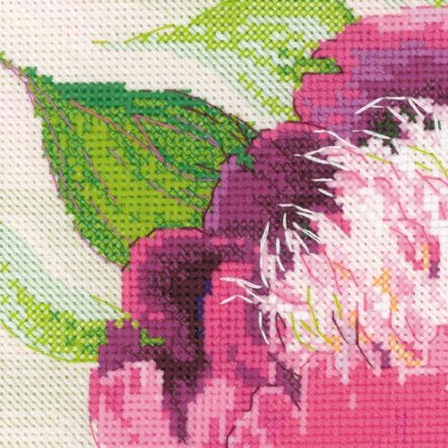 """Набор для вышивания крестом Риолис """"Розовые пионы"""" (фото, вид 2)"""