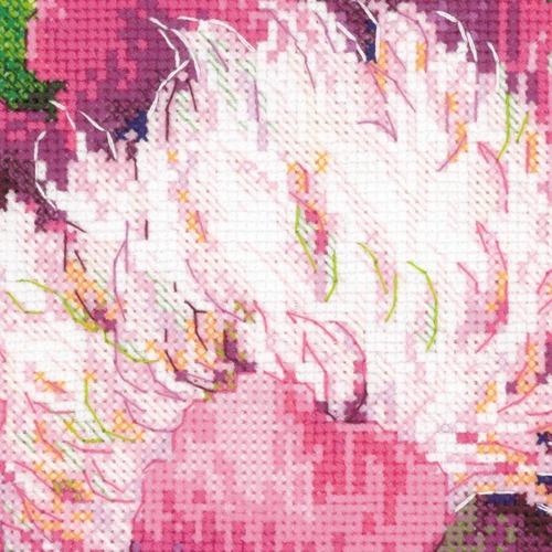 """Набор для вышивания крестом Риолис """"Розовые пионы"""" (фото, вид 3)"""