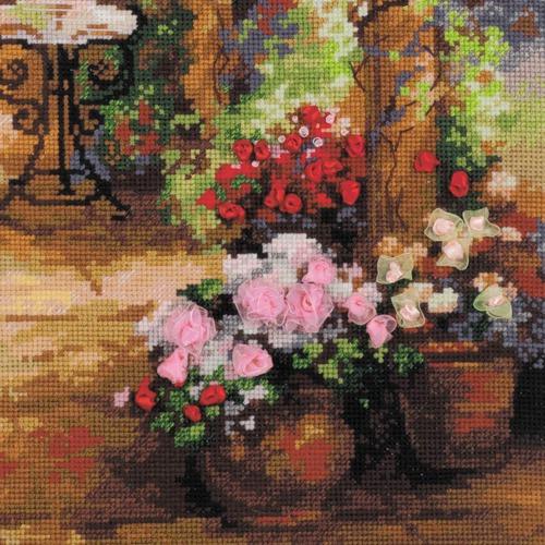 """Набор для вышивания крестом Риолис """"Свидание в саду"""" (фото, вид 1)"""