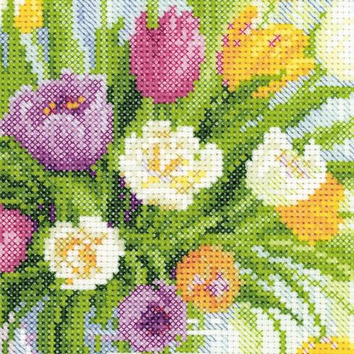"""Набор для вышивания крестом Риолис """"Акварельные тюльпаны"""" (фото, вид 1)"""