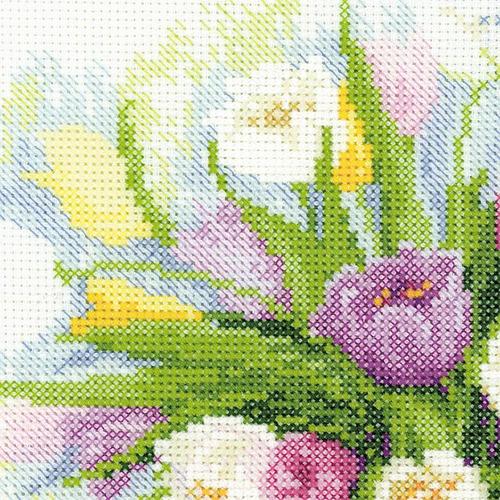 """Набор для вышивания крестом Риолис """"Акварельные тюльпаны"""" (фото, вид 3)"""