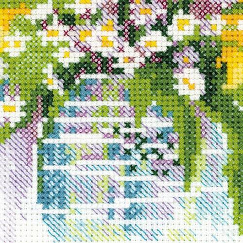 """Набор для вышивания крестом Риолис """"Акварельные подсолнухи"""" (фото, вид 1)"""