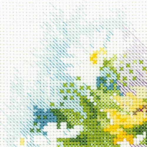 """Набор для вышивания крестом Риолис """"Акварельные подсолнухи"""" (фото, вид 3)"""