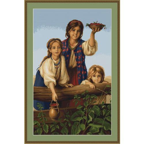 """Набор для вышивания крестом Luca-S """"Купите ягод (Платонов Х.)"""" (фото, вид 1)"""