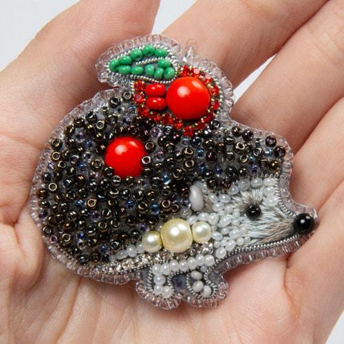 """Набор для вышивания бисером Crystal Art """"Ёжик"""" (фото, вид 1)"""