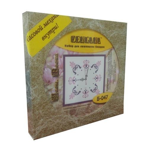 """Набор для вышивания бисером Zengana """"Часы. Весна"""" (фото, вид 1)"""