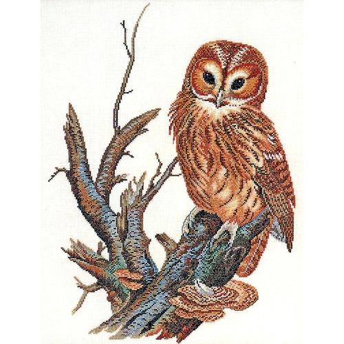 """Набор для вышивания крестом Eva Rosenstand """"Рыжевато-коричневая сова"""""""