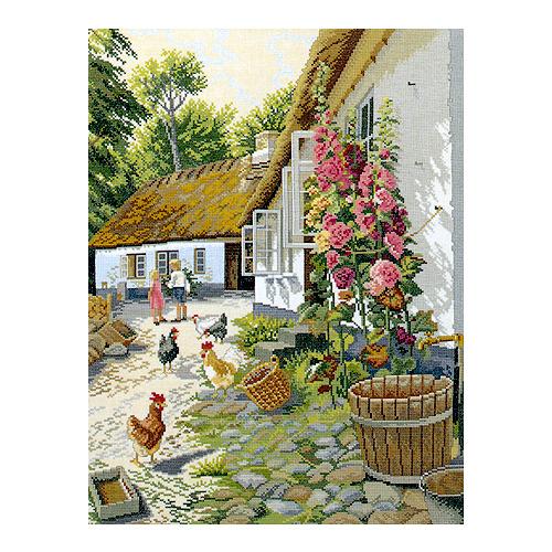 """Набор для вышивания крестом Eva Rosenstand """"Цветущий дворик"""""""