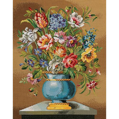 """Набор для вышивания крестом Eva Rosenstand """"Синяя цветочная ваза"""""""