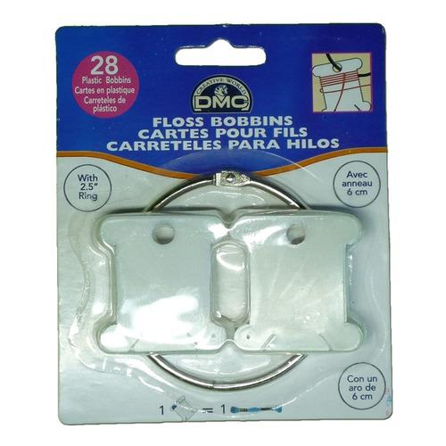 Аксессуары DMC Пластиковые бобинки для мулине с металлическим кольцом (фото)