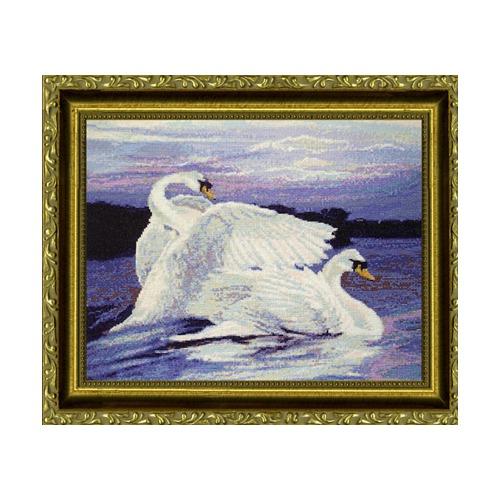 """Набор для вышивания крестом Kustom Krafts Inc. """"Лебеди"""" (фото)"""
