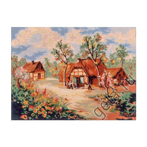 "Канва/ткань с нанесенным рисунком Gobelin-L ""Весна"""